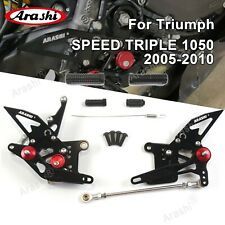 Footrests Rearsets Foot Pegs For TRIUMPH SPEED TRIPLE 1050 2005-2010 2006 2007 B