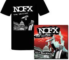 NOFX THE DECLINE LIVE AT RED ROCKS RED/BLK MRBL COLOR VINYL LP TSHIRT BUNDLE XL