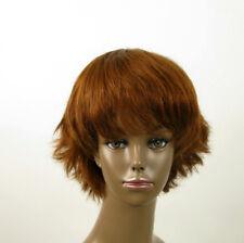 perruque AFRO femme 100% cheveux naturel châtain clair cuivré ref SHARONA 04/30