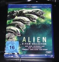 ALIEN 6 FILM COLLECTION INKLUSIVE PROMETHEUS / ALIEN COVENANT BLU RAY  NEU & OVP