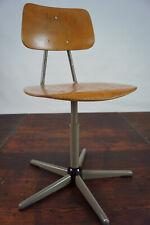 60er Vintage Drehstuhl Schreibtisch Stuhl Architektenstuhl Industriedesign 1/12