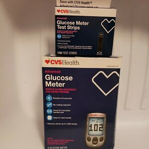 CVS Advanced Glucose Meter and 100 Glucose Meter Test Strips