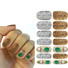 1 Sheets Nail Art Transfer Stickers 3D Design Manicure Tips Decal Decoration HOT