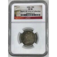 1834 Capped Bust Quarter NGC VF30 ***Rev. Tye's Stache***  #9015175