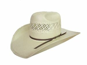 American Hat Company Natural Ivory Cattleman Straw Cowboy Hat 1011