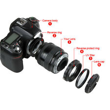 4 in 1 Macro Lens Reverse Protection to 52mm UV Filter Lens Cap For Nikon AI All