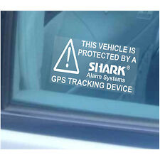 10 x Car/Van/Truck/Lorry Security Stickers-Shark Alarm GPS Tracker-Tracking Sign