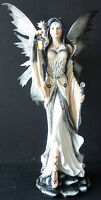 """WHITE QUEEN   Fairy with Dragon, Staff and Lamp  GSC Statue H 26""""   LARGE"""