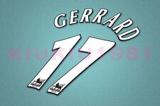 Liverpool Gerrard #17 PREMIER LEAGUE 97-06 White Name/Number Set