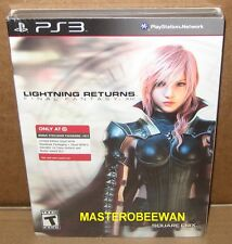Lightning Returns Final Fantasy XIII Steelbook New +DLC PlayStation 3, 2014) PS3