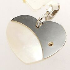 GOLD HEART CHARM 14K MOTHER OF PEARL CHARM PENDANT