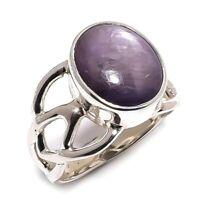 Sugilite Natural Gemstone Handmade 925 Sterling Silver Ring Size 9.5 SR-259