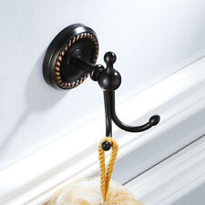 Oil Rubbed Bronze Wall Mounted Clothes Robe Hook Black Brass Kitchen Hooks