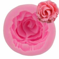 3D DIY Flower Bloom Rose shape Silicone Fondant Soap 3D Cake Mold Cupcake Jelly