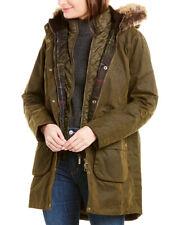 Barbour Thrunton Waxed Trench Coat Women's