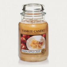 Yankee Candle - WARM APPLE CRISP - 22 oz - Great Food & Spice Scent!! - RARE!!