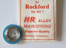 Hr Nos Rockford 16S 822 T Alloy Mainspring Swiss Made Sa551