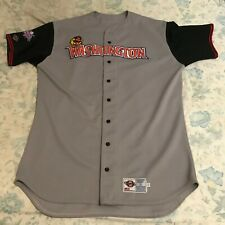 2002 WASHINGTON WILD THINGS Game Used Away Jersey - Frontier League - Size 50