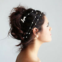 Pearl Flower Crystal Wedding Bridal Headband Clip Hair Band Tiara Accessories