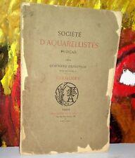 SOCIETE D'AQUARELLISTES FRANCAIS  1882  Catalogue