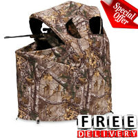 Hunting Chair Blind Tent Realtree Xtra Camo Shooting House Deer Ground Stand