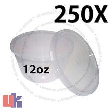 250 Recipientes para alimentos para bebés & Multi Uso de Almacenamiento Fuerte Redondo Ollas 12oz 120x49mm