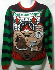 Sexy Santa Medium Christmas Sweater by Happy Holidays Urban Heritage