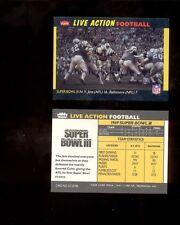 1987 Fleer Action MATT SNELL JOE NAMATH New York Jets Colts Super Bowl III Card