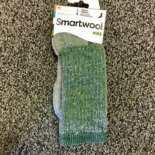 NEW Smartwool Mens Hike Merino Wool Crew Socks - Green Heather - Large