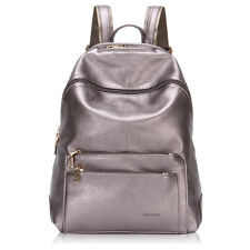 Practical Women Multi-Pocket Backpack Travel School Daypay Faux Leather Purses