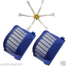2 AeroVac Filter + 1X 6-armed Brush for iRobot Roomba 600 Series 620 630 650 660