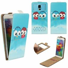 Mobile Flip Cover With Card Holder For INEW i8000 - Cartoon Bird L FLIP