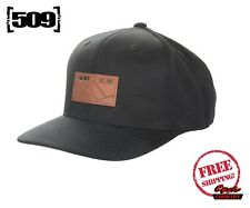 509 BLACK FIRE HAT W/ LOGO PATCH FLATBILL SNOW SNOWMOBILE NEW FREE SHIPPING
