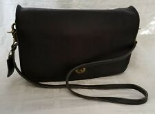 Vintage Coach Black Leather Purse Shoulder Bag