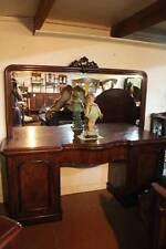 A Large Victorian Mahogany Mirror Back Twin Pedestal Sideboard 2.13m (7')