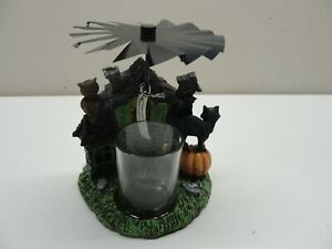 YANKEE CANDLE MOVING HAUNTED HOUSE HALLOWEEN TEA LIGHT HOLDER / MISSING BATS