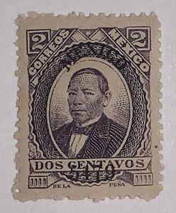 Travelstamps: Mexico Stamps 1879 Juarez 2¢ Violet Mexico Thick Paper Mint OG NH