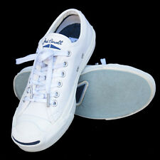 Converse Jack Purcell Signature Unisex White Leather Shoe Size W6 M4.5