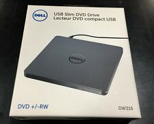 Dell Dw316 External USB Slim DVD RW Optical Drive 429aaux