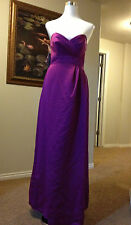 NEW Alfred Angelo-Violet Purple-Junior 14J-Satin Strapless Gown Bridemaid Dress