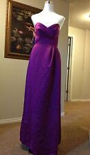 NEW Alfred Angelo-Violet Purple-Junior 14J-Satin Strapless Gown Bridemaid Dress