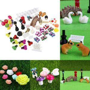 58Pcs Garden Fairy Dollhouse Miniature Ornament Decor Kit DIY Craft Accessories