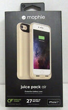 NOB Mophie Juice Pack External Battery for iPHONE 7 Wireless Charging Case GOLD