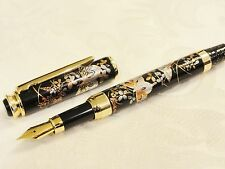 Handmade Japanese Urushi Lacquer Makie fountain Pen Butterfly