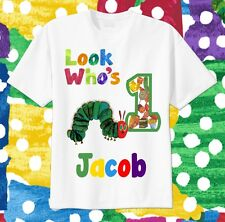The Hungry Caterpillar CUSTOM Tshirt Personalize Birthday gift party Tee