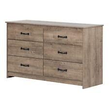 Tassio 6-Drawer Double Dresser, Weathered Oak
