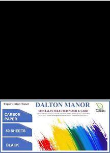 DALTON MANOR CARBON PAPER IN 3 COLOURS - 4 SIZES- 4 PACK QUANTITIES - HAND COPY
