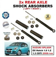 REAR AXLE SHOCK ABSORBERS fits SUZUKI SPLASH EX Hatch 1.0 1.2 1.3 CDTi 2008->on