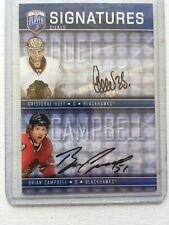 08-09 Be A Player Signatures Duals Cristobal Huet/Brian Campbell Black Hawks