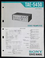 SONY TAE-5450 Original Pre-Amplifier Service-Manual/Diagram/Parts List o150